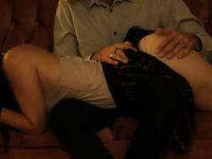 Eight minutes ass spanking punishment for a bad girl