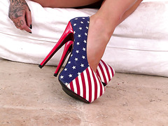 Inked brickhouse from UK Daniella Mae shows off her flawless feet
