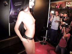 Exquisite Lovenia Lux fucks in public at Barcelona erotic festival