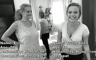 Rocco fucks 58 y.o. granny Elisa A and 18 y.o. Tricia Teen