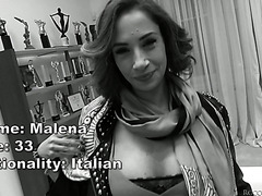 Italian MILF Malena got smashed in brutal fashion in pussy and bumhole