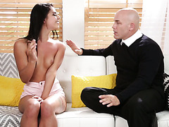 A teacher got blackmailed by insane Gina Valentina into having sex