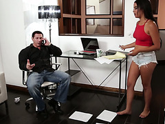 Businessman fucks his slutty stepdaughter Maya Bijou