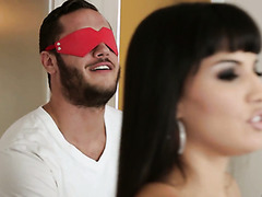 Gorgeous Mercedes Carrera is getting fucked by a blindfolded guy