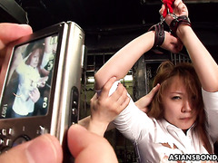 Office girl Hinata Komine gets bondaged and humiliated with sex toys