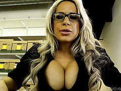 Alyssa Lynn uses her huge tits and pussy to get a desired position