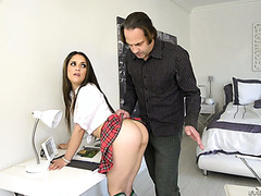 Ziggy Star begs her stepdaddy to spank her and fuck the hell out of her