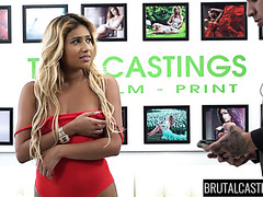 Exciting Ally Berry takes brutal banging during a casting