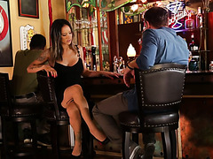 Nadia Styles hooks up with a random dude in a bar and gives a footjob in a car