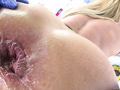 Corinna Blake gets her anal hole stretched real good by a huge cock