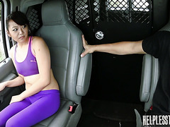 Miko Dai twisted her ankle while jogging and got fucked hard in a van