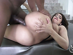 Beautiful white girl with thick ass gets nailed hard by BBC