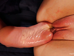 Emma Haze gets foot fisted by her nasty lesbian GF Dee Williams