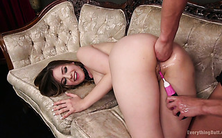 Nasty Ariel X fists Stella Cox and ruins her ass with a strapon