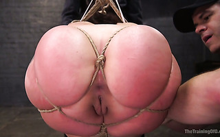 Mandy Muse gets tied up tightly and fucked hard in her huge Latina ass