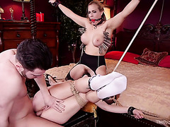 Angel Allwood helps her master to fuck the shit out of Zoey Monroe