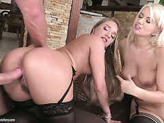 Wild threesome fuck with amazing Sofi Goldfinger and Layla Price