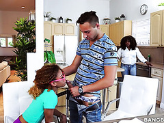 Slutty and dumb black girl Kendall Woods seduces yet another tutor to spite strict mom
