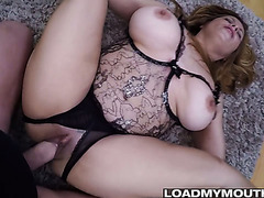 Amateur mommy with monster curves takes pounding in hot POV