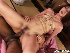 Choking and hate fucking submissive Japanese babe Aoi Wajo