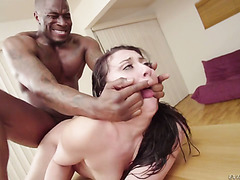 Hardcore anal drilling on the table with phat ass Mandy Muse and BBC