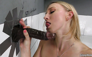 Riley Reyes takes creampie from BBC in gloryhole room
