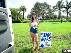 Careless teen Shae Celestine has a bangbus adventure