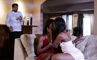 Ana Foxxx shares her husband with other black babe Chanell Heart