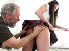 Russian college girl Lana Ray if fucked by old dude from Ikea