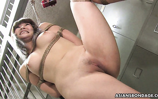 Hot Japanese slave Yukina Mori is bondaged and gang fucked