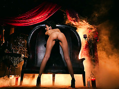 Dark empress Ariana Marie in stunning striptease solo