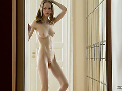Petite Russian angel gives heart stopping teasing performance