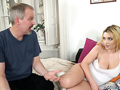 Busty Spanish Lucia Fernandez seduces dad's old friend