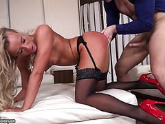 Veronica Pure is a classy blonde babe who loves getting dicked