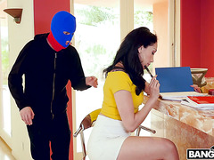 Latina GF Vicki Chase loves anal robber role-play with her BF