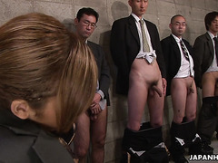 Asian super model Kei gets bukkake in steamy gangbang