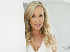 Cougar Brandi Love seduces stepson with her big mature boobs