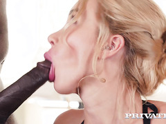 Katrin Tequila works on BBC with her pouty lips and Russian holes