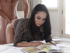 Hot Russian wife Kristall Rush lets stepson use her pussy