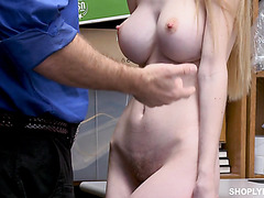 Big tittied Nadya Nabakova pays for stealing with her pussy