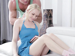 Lola Taylor forgets about book when her beefy boy arrives