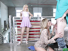 Fucking stepmother Cory Chase and cute GF Jane Wilde in FFM