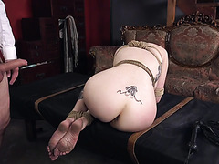 Lauren Phillips is drilled by master ass to pussy