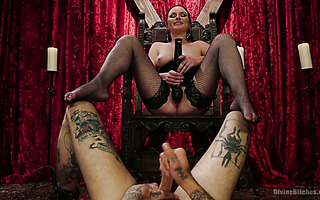 Mistress Veruca James plays with her ass eating slave