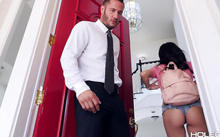 Emily Willis lets teacher pound her tiny Latina ass for A+