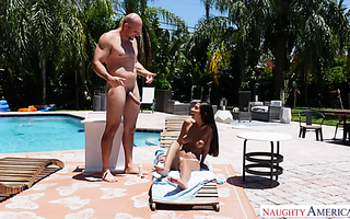 Gianna Dior is roughed and jizzed by huge dicked mofo