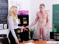 Math teacher India Summer is tempted by student