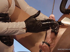 Mistress fucks slave's urethra with metal rod - BDSM sounding