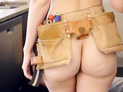 Blonde Alexa Grace fucks handsome plumber