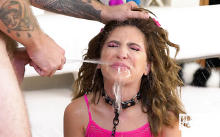 PISS WHORE Jane Wilde suffers from anal and oral mauling